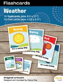 Weather Flashcards / Set of 16 / Printable