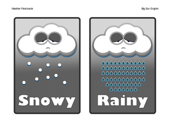 Weather Flashcards by Big Sun English