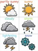 Weather Flashcards for the Virtual ESL Classroom - Virtual Classroom Props