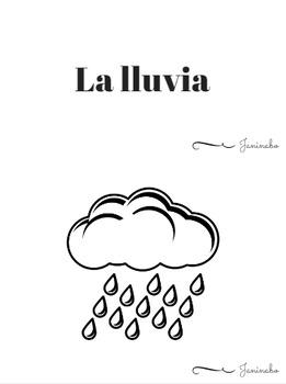 Weather Flashcards in Spanish + fun games