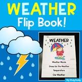 Weather Flip Book  (Weather Activities for Kindergarten & 1st Grade)