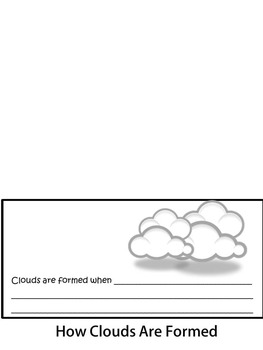 Weather Flip-Up Books! Clouds and the Water Cycle