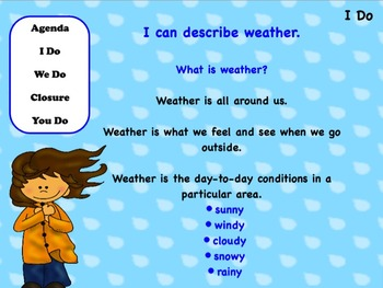 Weather: Flipchart and Worksheets
