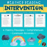 Weather Fluency and Comprehension Reading Intervention {Grade 4}