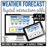 Weather Forecast Digital Interactive Activity
