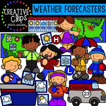 Weather Forecasters - Weather Clipart {Creative Clips Clipart}