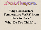 Weather:  How to Forecast Air Temperature-Why It Changes PowerPoint