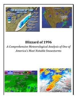 Weather: Station Models-Forecasting-Weather Map Analysis (Blizzard of 1996)
