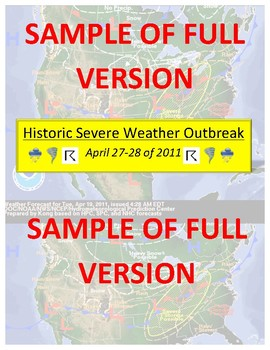Weather: Forecasting Severe Weather -FREE- Section of Multi-Level Full Version!