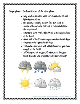 Weather Forecasting: The Atmosphere