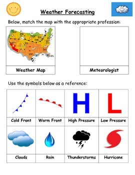 Weather: Forecasting-VERY POPULAR!!! (Level 1).  Earth Science Favorite!