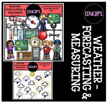Weather Forecasting and Measuring Clip Art Bundle {Educlips Clipart}