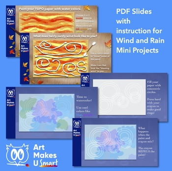 STEAM Art Lesson Weather Four Ways - Multi Media Art Lesson Powerpoint