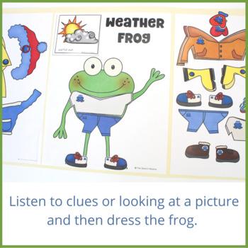 Weather Frog: Vocabulary File Folder Game
