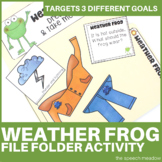 Weather Frog | Vocabulary File Folder Game |