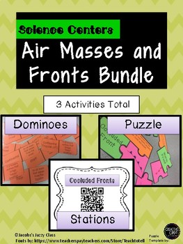Weather Fronts and Air Masses Bundle