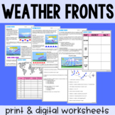 Weather Fronts & Air Masses - Guided Reading - Print & Goo
