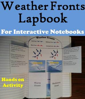 Weather Fronts Interactive Notebook Lapbook/ Foldable Activity