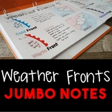 Weather Fronts JUMBO Notes