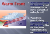 Weather Fronts & Predicting - Lesson Presentations, Activities, Map Reading