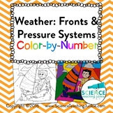 Weather: Fronts and Pressure Systems Color-by-Number