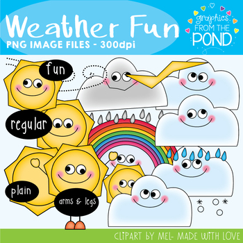 Weather Fun - Clipart for Teachers and Classrooms