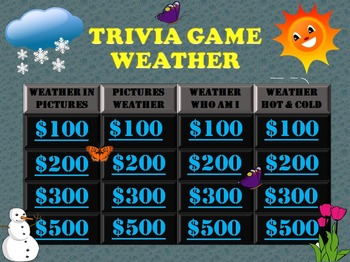 Weather Game: Fun Stuff