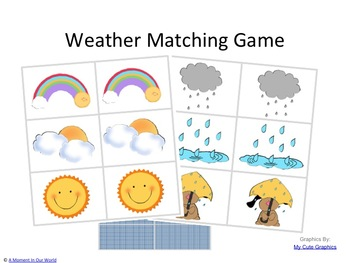 Weather Game Matching Cards