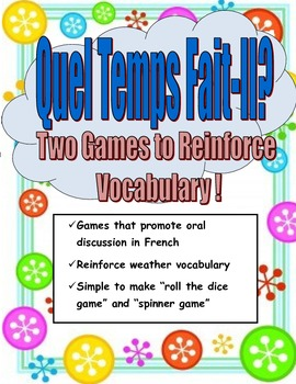 Weather Games- Students Learn Weather Expressions While Playing!