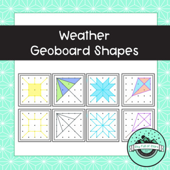 Weather Geoboard Task Cards