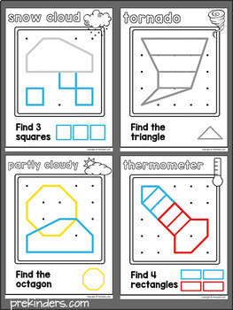 Weather Geoboards: Shape Activity for Pre-K Math