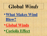 Weather: Global Wind Belts and the Coriolis Effect PowerPoint