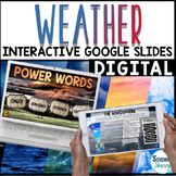 Weather Google Classroom Distance Learning | Interactive Digital