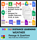 Weather Google Doc Article & Questions Distance Learning Friendly