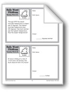 Weather (Grade 4 Daily Word Problems-Week 28)