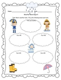Weather Graphic Organizer for Informational Paragraph