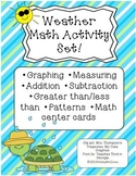 Weather Math Activity Set Graphing Patterns Measuring Dice Math