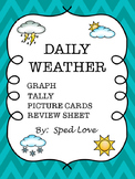 Daily weather graphing and picture cards