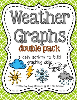 Weather Graphs [daily activity DOUBLE PACK!]