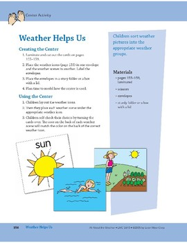 Weather Helps Us: Center Activity