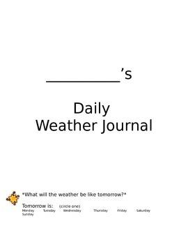 Weather Homework Journal