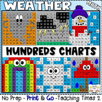 Weather Hundreds Chart Hidden Picture