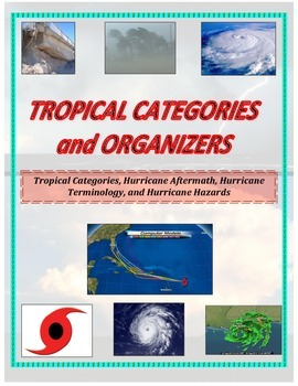 Weather:  Hurricane Organizers (GREAT for SPED, Games, or PreClass)