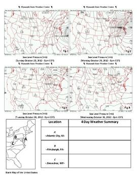 Weather: Hurricane Sandy-Station Models-Forecasting. ONE OF A KIND!