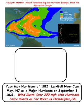 Weather: Hurricane Tracking - Longitude and Latitude (BONUS Activities)
