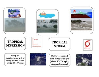 Weather: Hurricane VOCABULARY (Image and Text Organizers)