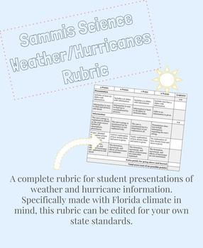 Weather/Hurricanes Rubric