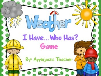 Weather - I Have... Who Has? Game