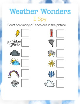 I Spy Counting: Weather