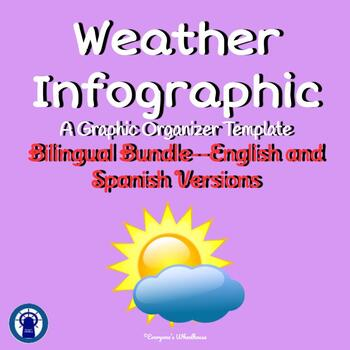Weather Infographic Template Bilingual Bundle